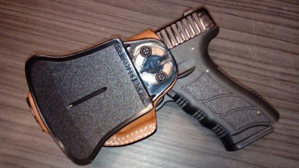 Glock 19/23 bőr fegyvertok PA 16019