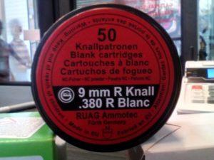 9mm R Knall riasztó Ruag (FT/DB)
